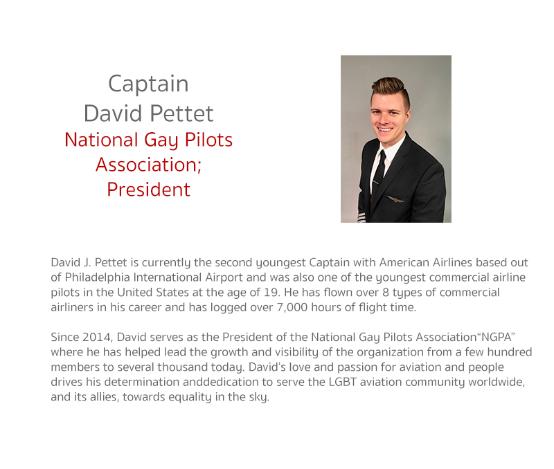 David J. Pettet is currently the second youngest Captain with American Airlines based out of Philadelphia International Airport and was also one of the youngest commercial airline pilots in the United States at the age of 19. He has flown over 8 types of