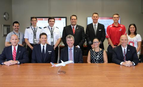 Center for Aviation Studies signs pilot cadet agreements with